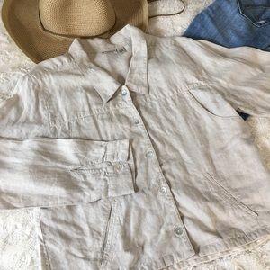 Putumayo 100%Linen Jacket Size Small W/ Pockets
